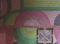 mosaïque détail douche