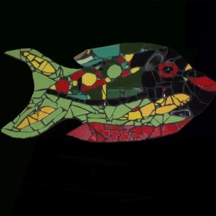 poisson porte torchon, cours de mosaïque