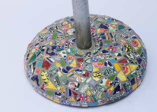 pied parasol mosaïque picassiette
