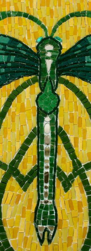 bijou de jardin pâte de verre