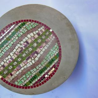 mosaïque et béton table basse (diamètre 60 cm, hauteur 40 cm)