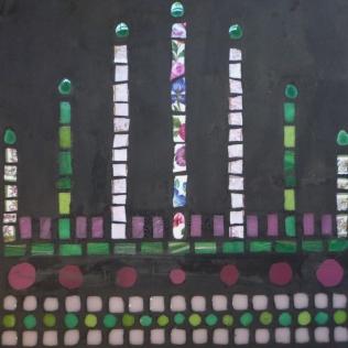 plan de travail béton et mosaïque