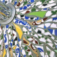 détail Pied de parasol picassiette andalou