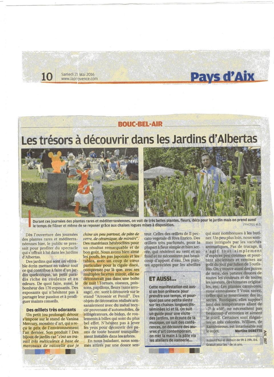 21 mai 2016 La Provence