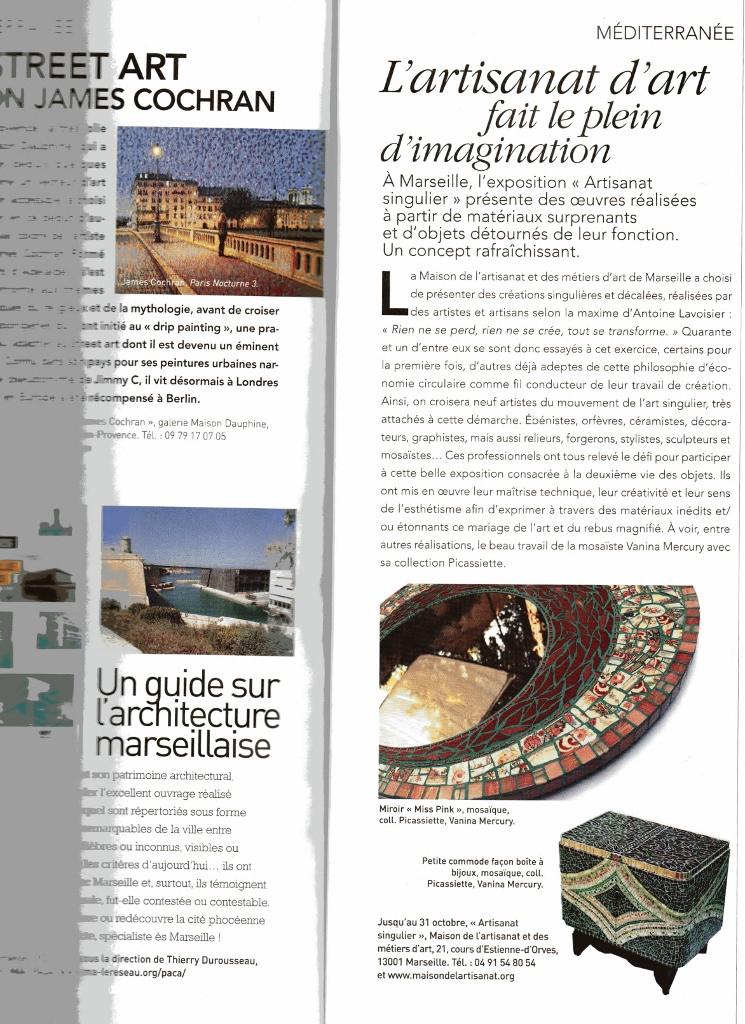 Article Art et Décoration, Expo Maison de l'Artisanat et des Métiers d'Art, Oct 2014