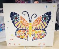 cours mosaique adulte marseille papillon
