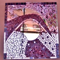 cours mosaique marseille tableau abstrait miroir