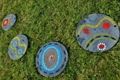 Bijou de jardin, pas japonais série 1, mosaïque et béton