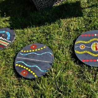 Bijoux de jardin, pas japonais série 2, mosaïque et béton