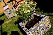 Jardinière en mosaïque