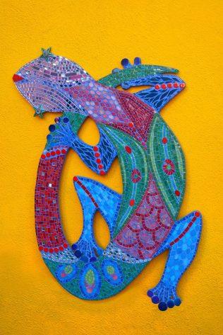 gecko sur mur, 80cmx120cm© Yves Inchierman