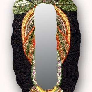 miroir pour extérieur : Guadaloux (1m60x0;90), pâte de verre, miroir, vaisselles,