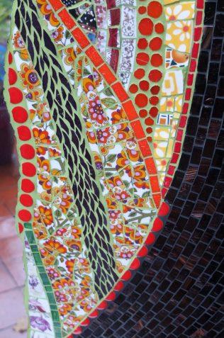 détail miroir Guadaloux, vaisselle, pâte de verre, albertini