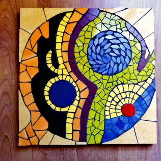 travail d'élève, cours mosaïque atelier les précieuses assembleuses