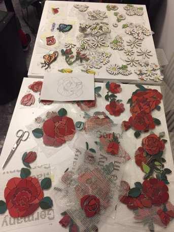 Roses et marguerites