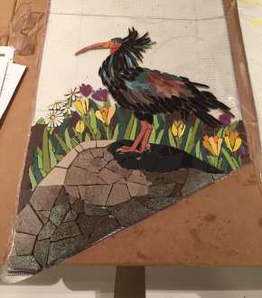 Neslihan_bird_mosaic_ treppe_mosaic_project