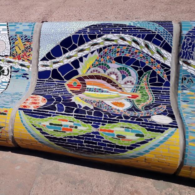 banc réalisé pare les précieuses assembleuses, Corniche Kenedy Marseille