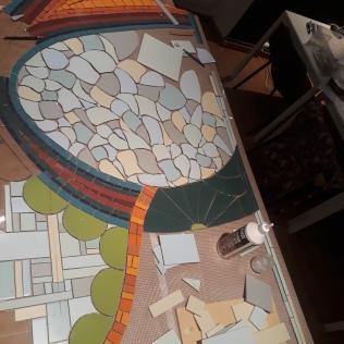 Décoration Murale Pour Salle de Bain, grès, céramique